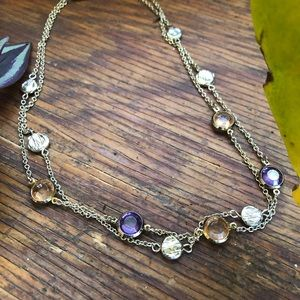 Jewelry - Double Layer Gem Necklace